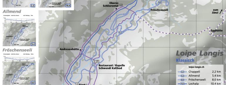 Loipenplan Langis bei Sarnen