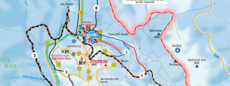 Loipenplan Langlaufzentrum Mauth-Finsterau
