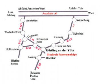 Das Langlaufzentrum Hochreit liegt südlich von Göstling an der Ybbs.