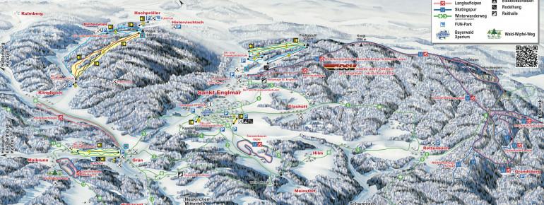 Loipenplan Langlaufzentrum Sankt Englmar - Hirschenstein