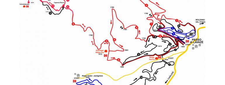 Loipenplan Lavazè Pass - Jochgrimm