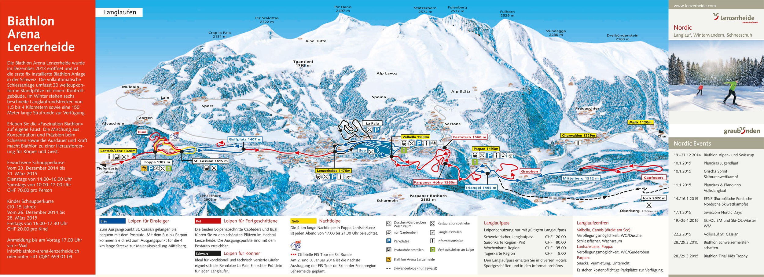 CrossCountry Skiing Trail Map Arosa Lenzerheide Nordic Trail Map