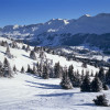 A beautiful winter landscape in Lenzerheide.