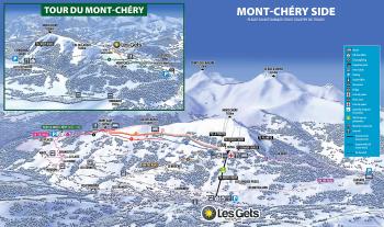 Loipenplan Les Gets, Seite Mont-Chéry