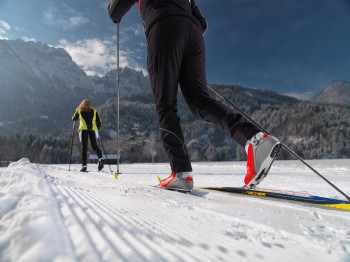 Die Loipen in den Lienzer Dolomiten sind sowohl für den klassischen als auch für den Skating-Stil ausgelegt.