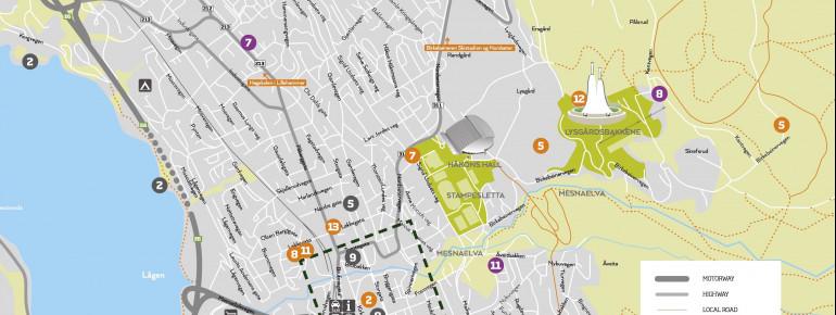 Trail Map Lillehammer