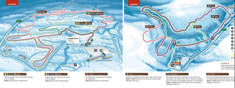 Trail Map Lindvallen – Högfjället (Sälen)