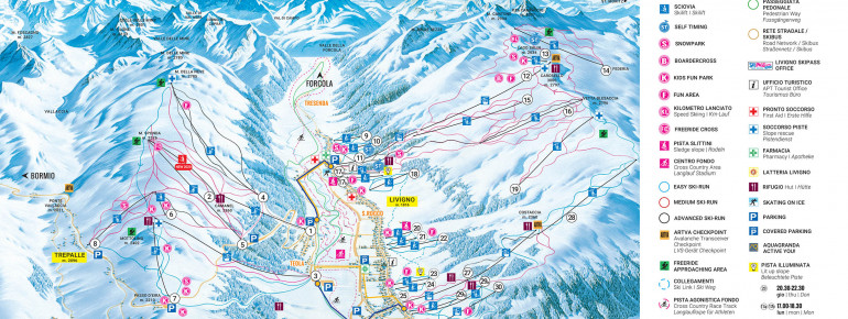 Trail Map Livigno