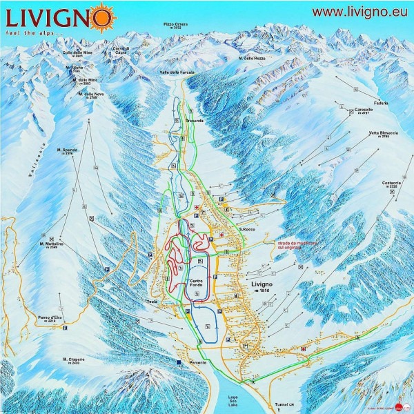 CrossCountry Skiing Livigno Nordic skiing Tracks