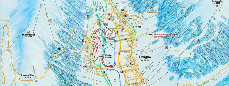 Livigno Italy Map.Cross Country Skiing Livigno Nordic Skiing Tracks