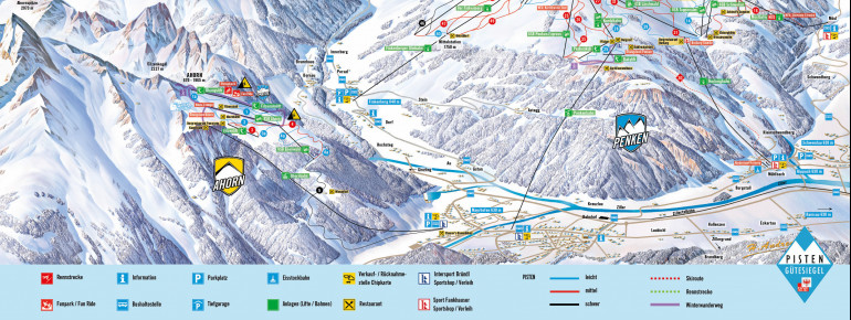 Trail Map Mayrhofen