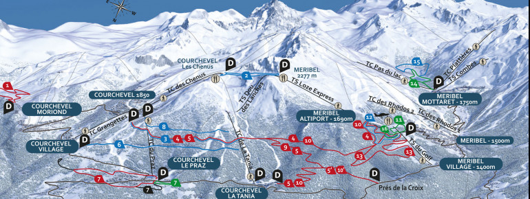 Trail Map Meribel