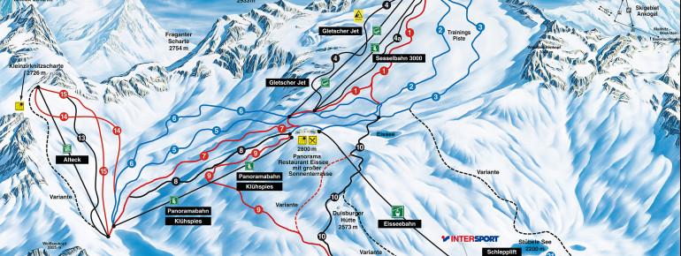 Loipenplan Mölltaler Gletscher - Flattach