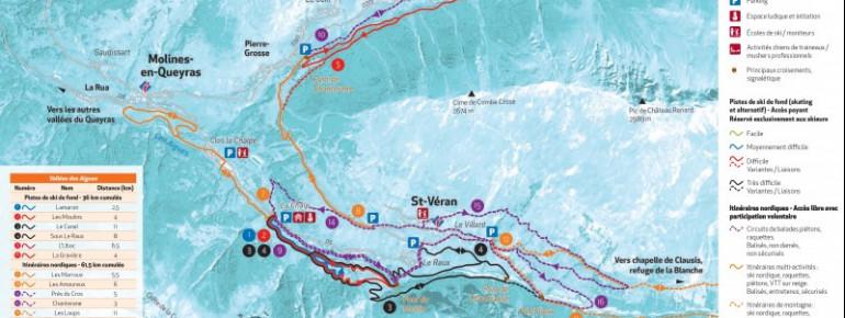 Trail Map Molines - Saint-Véran (Vallées des Aigues)