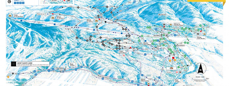 Trail Map Mont Sainte Anne