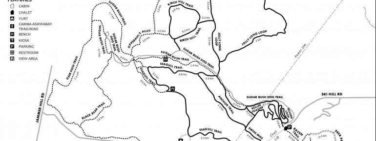 Loipenplan Mount Ashwabay Ski and Recreation Area
