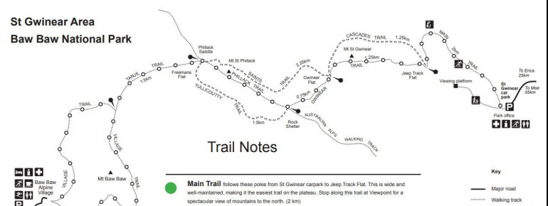 Trail Map Mount Saint Gwinear