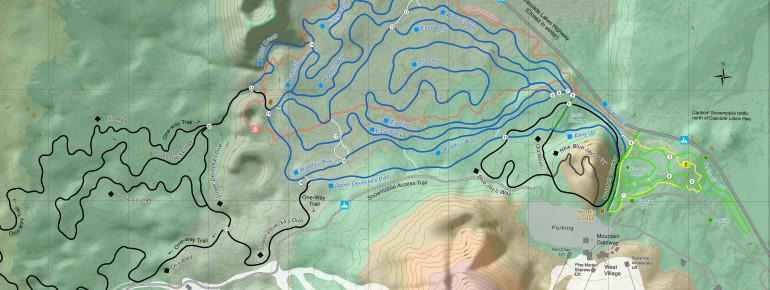 Loipenplan Mt Bachelor