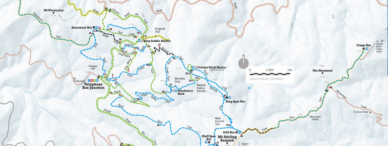 Trail Map Mt Buller - Mt Stirling