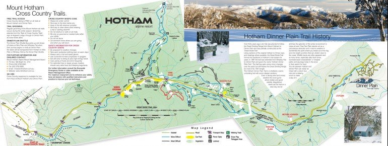 Loipenplan Mt Hotham