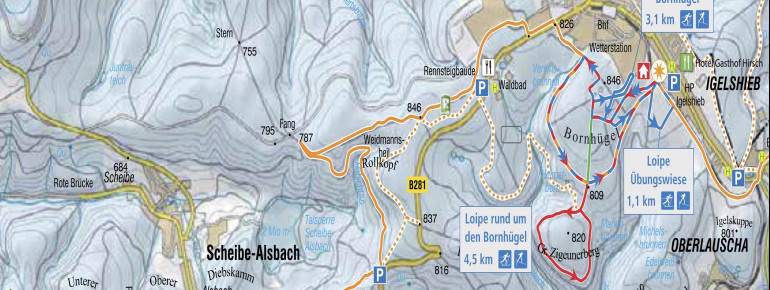Trail Map Neuhaus am Rennweg