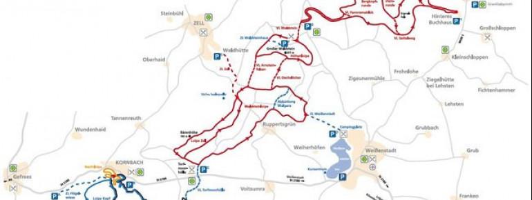 Trail Map Nordic Park Fichtelgebirge
