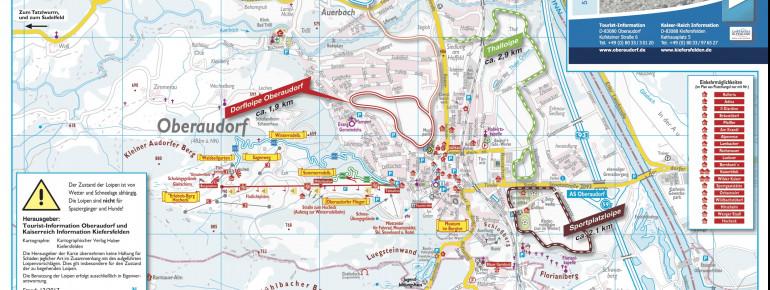 Loipenplan Oberaudorf - Kiefersfelden