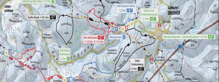 Loipenplan Oberhof