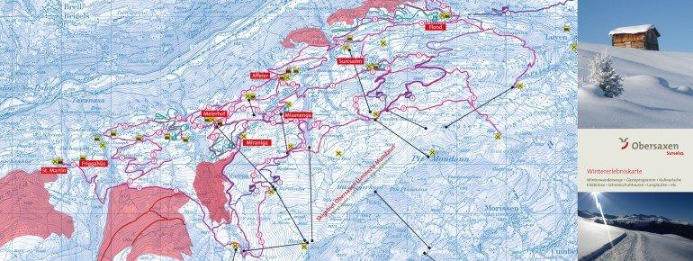 Loipenplan Obersaxen Mundaun Val Lumnezia