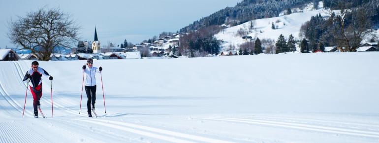 WM-Loipe bei Oberstaufen