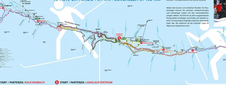 Loipenplan Obertilliach - Untertilliach - Kartitsch
