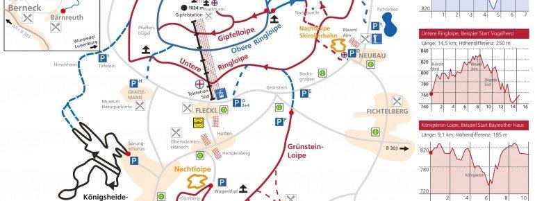 Loipenkarte Region Ochsenkopf