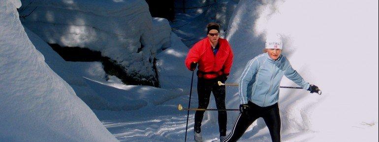 Rund 100 Loipenkilometer ziehen sich rund um den Ochsenkopf durch die winterliche Landschaft.