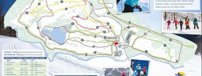 Loipenplan Okemo Valley Nordic Center