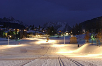 Skiing the night trails is a special experience.