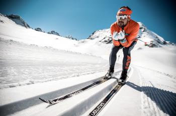 Ein Höhentraining kann man in der schneesicheren Loipe am Pitztaler Gletscher absolvieren.