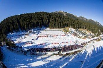 Das Biathlonstadion liegt mitten im Nationalpark Triglav.