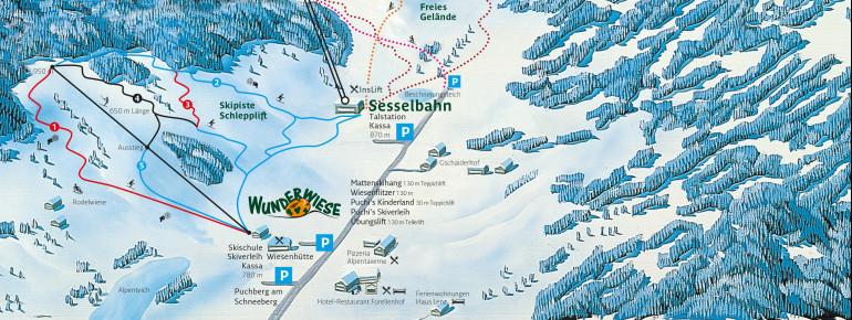 Loipenplan Puchberg am Schneeberg