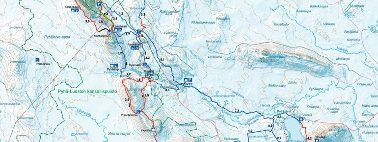 Trail Map Pyhä