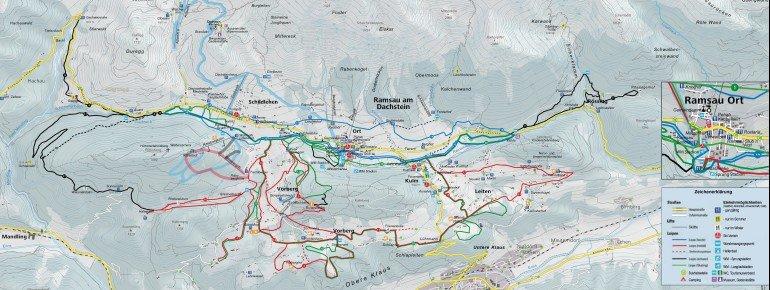 Loipenplan Ramsau am Dachstein