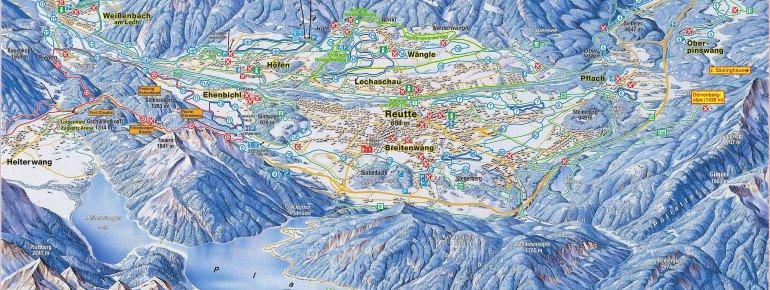 Loipenplan Naturparkregion Reutte