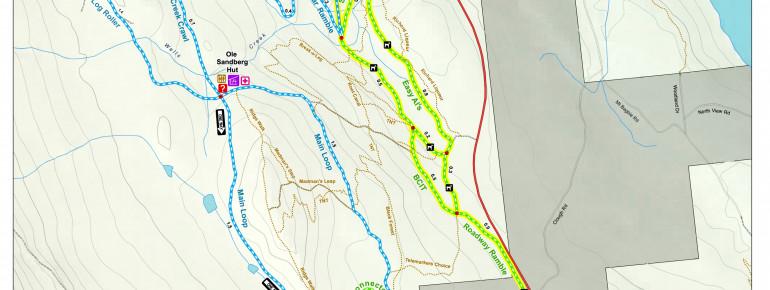 Trail Map Revelstoke Nordic Ski Club