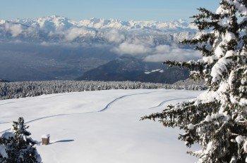 Das malerische Langlaufgebiet liegt oberhalb von Bozen.