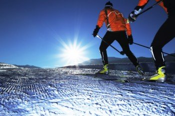Enjoy the sun while skiing the trails.