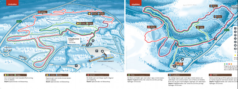 Loipenplan Lindvallen - Högfjället (Sälen)
