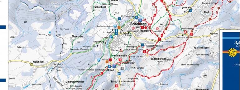 Loipenplan Scheidegg