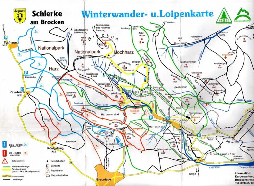 Trail Report Schierke Am Brocken Trail Map Grooming