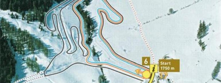 Loipenplan Nordisches Skizentrum Schlinig (Watles)