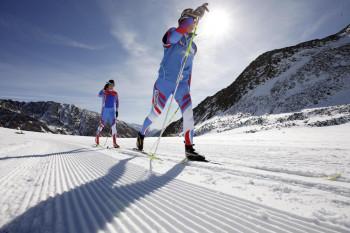 Die Höhenloipen am Schnalstaler Gletscher sind ideal zum Trainieren!