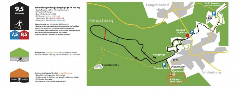 Loipenplan Schömberg